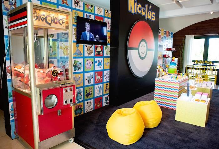 Pokeball Machine from a Pokemon Birthday Party on Kara's Party Ideas | KarasPartyIdeas.com (12)