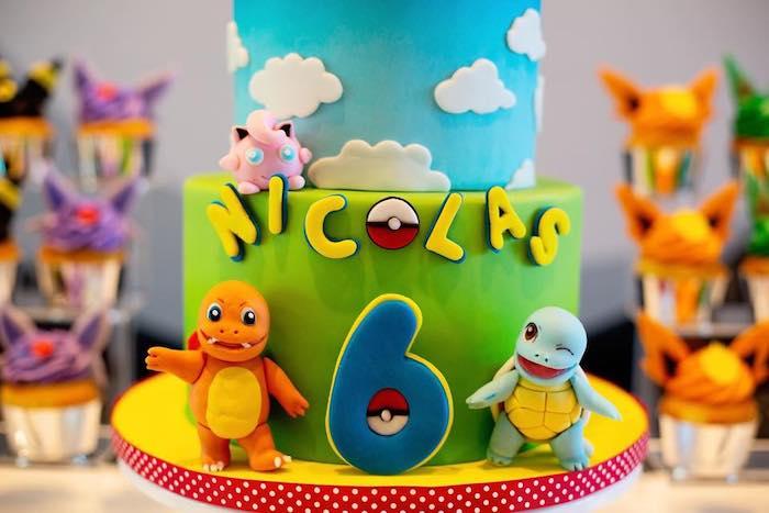 Pokemon Cake from a Pokemon Birthday Party on Kara's Party Ideas | KarasPartyIdeas.com (8)