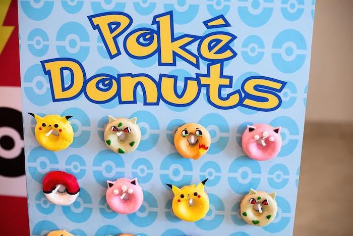 Pokemon Donuts from a Pokemon Birthday Party on Kara's Party Ideas | KarasPartyIdeas.com (7)