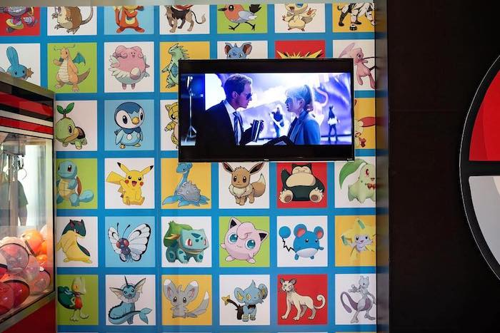 Pokemon Square Backdrop from a Pokemon Birthday Party on Kara's Party Ideas | KarasPartyIdeas.com (25)