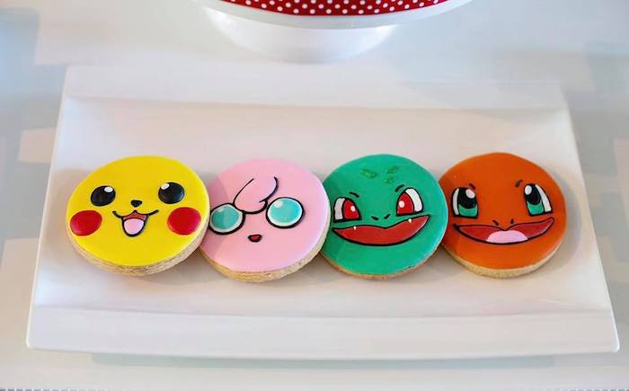 Pokemon Cookies from a Pokemon Birthday Party on Kara's Party Ideas | KarasPartyIdeas.com (24)