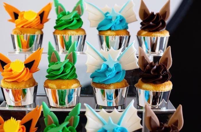 Pokemon Cupcakes from a Pokemon Birthday Party on Kara's Party Ideas | KarasPartyIdeas.com (23)