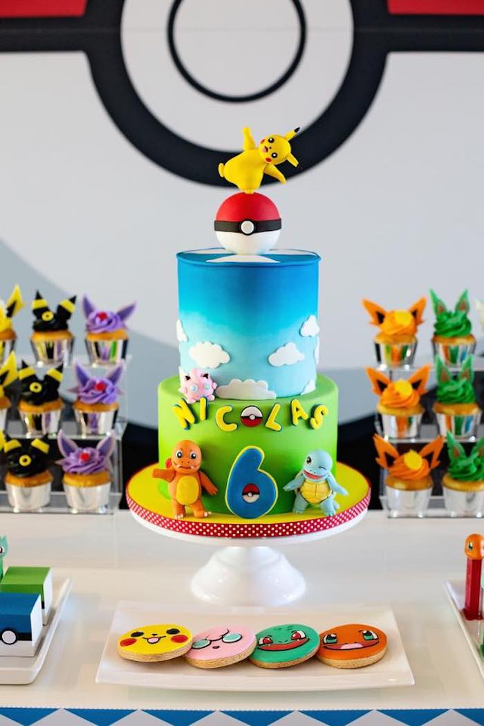 Prime Karas Party Ideas Pokemon Birthday Party Karas Party Ideas Personalised Birthday Cards Bromeletsinfo