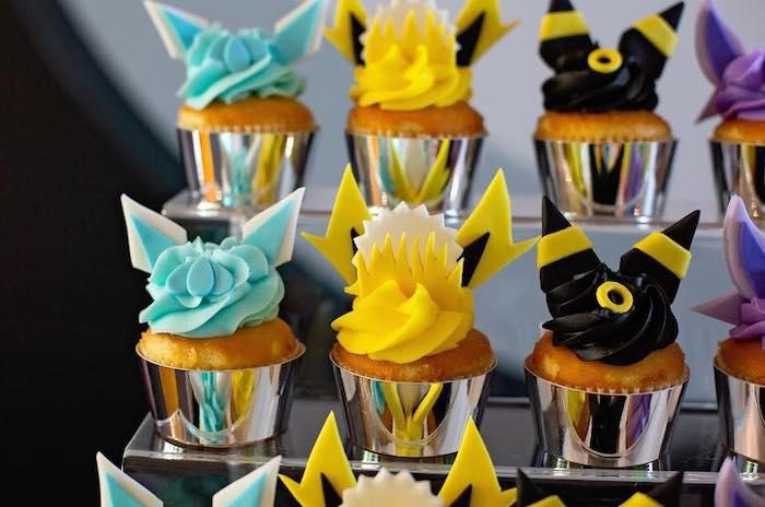 Pokemon Cupcakes from a Pokemon Birthday Party on Kara's Party Ideas | KarasPartyIdeas.com (19)