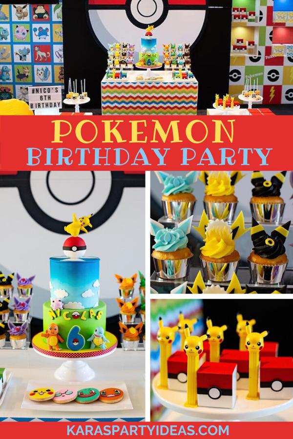 Pokemon Birthday Party via Kara's Party Ideas - KarasPartyIdeas.com
