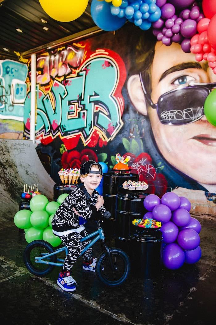 Rainbow Urban Art Birthday Party on Kara's Party Ideas | KarasPartyIdeas.com (13)