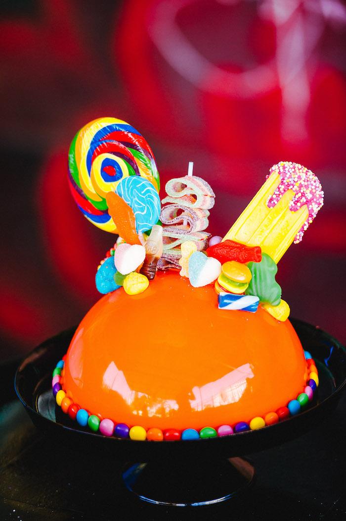 Breakable Candy Cake from a Rainbow Urban Art Birthday Party on Kara's Party Ideas | KarasPartyIdeas.com (31)