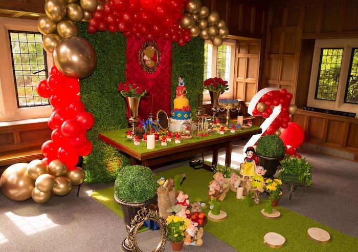 Snow White Dessert Table from a Snow White Birthday Party on Kara's Party Ideas | KarasPartyIdeas.com (18)
