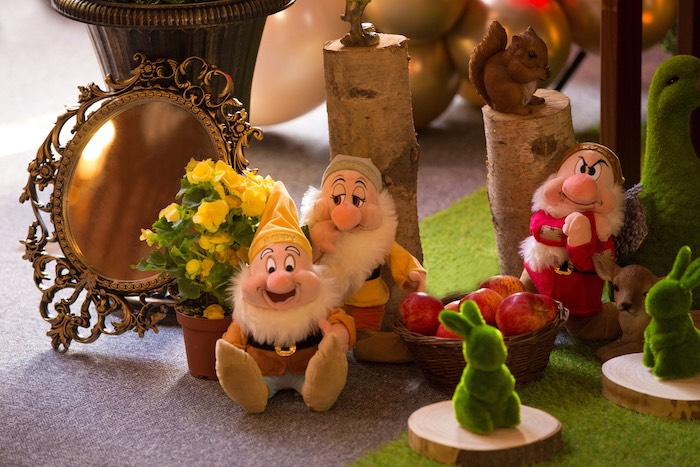 Plush Seven Dwarfs from a Snow White Birthday Party on Kara's Party Ideas | KarasPartyIdeas.com (16)