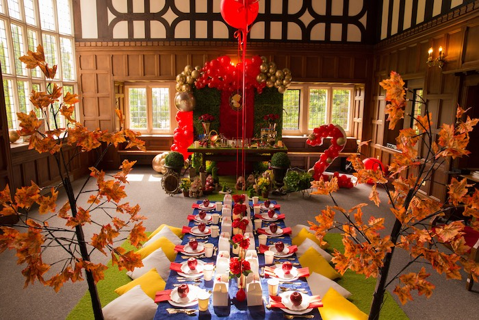 Enchanted Forest Party Tables from a Snow White Birthday Party on Kara's Party Ideas | KarasPartyIdeas.com (2)