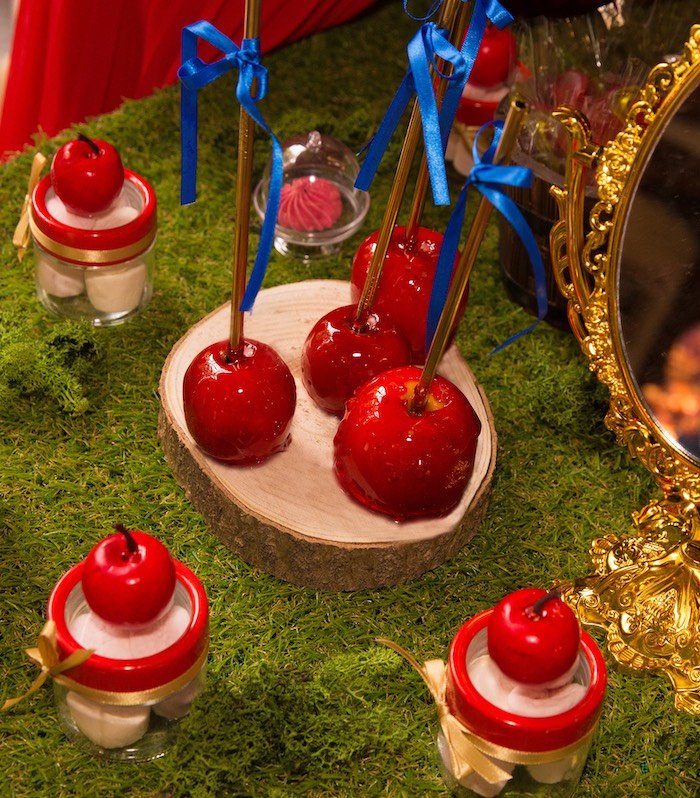 Candied Apples from a Snow White Birthday Party on Kara's Party Ideas | KarasPartyIdeas.com (26)