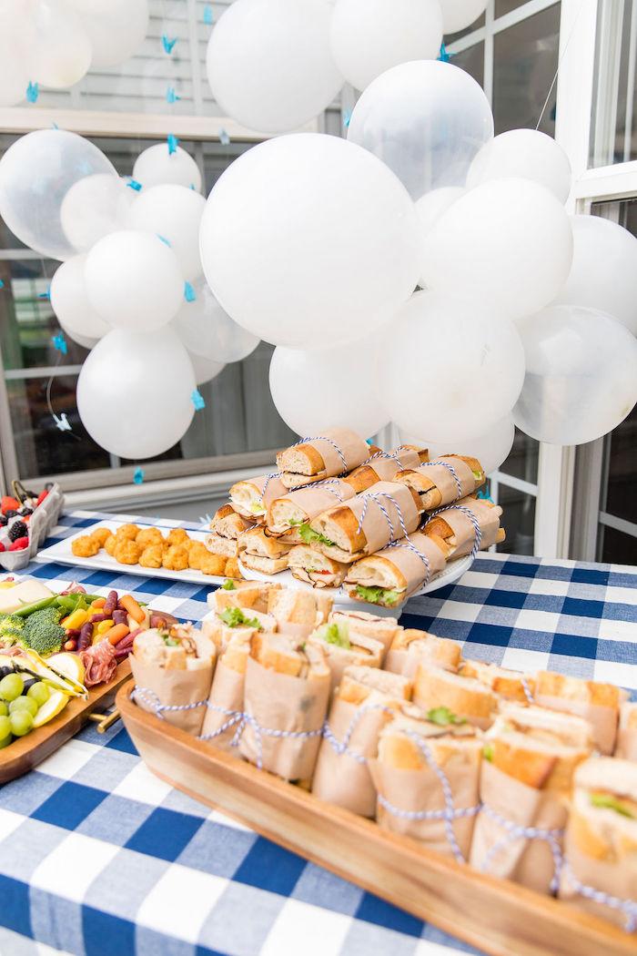 Food Table from a Somewhere Over the Rainbow Birthday Party on Kara's Party Ideas | KarasPartyIdeas.com (17)