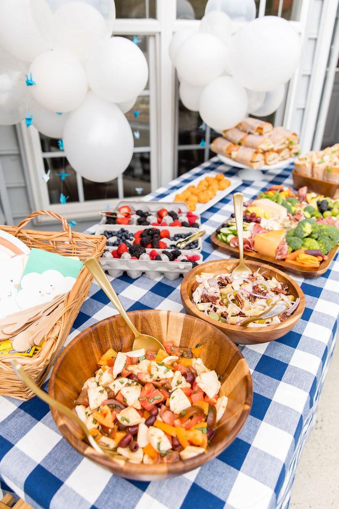 Food Table from a Somewhere Over the Rainbow Birthday Party on Kara's Party Ideas | KarasPartyIdeas.com (15)