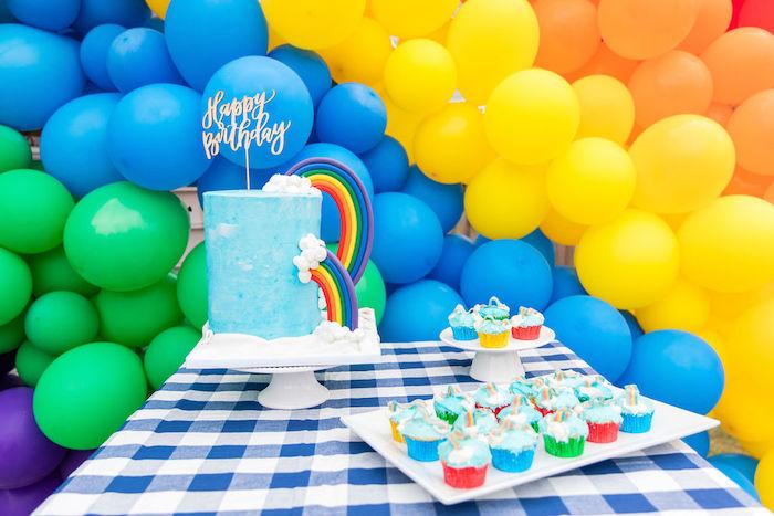 Somewhere Over the Rainbow Birthday Party on Kara's Party Ideas | KarasPartyIdeas.com (5)