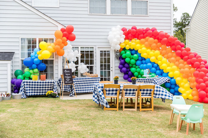 Rainbow Party Spread from a Somewhere Over the Rainbow Birthday Party on Kara's Party Ideas | KarasPartyIdeas.com (22)