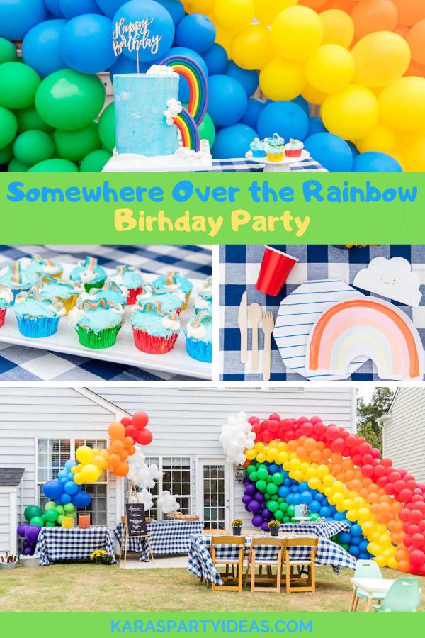 Somewhere Over the Rainbow Birthday Party via KarasPartyIdeas - KarasPartyIdeas.com
