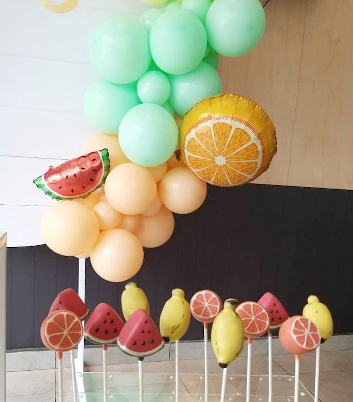 Fruit Themed Cake Pops from a Tutti Frutti Birthday Party on Kara's Party Ideas | KarasPartyIdeas.com (13)
