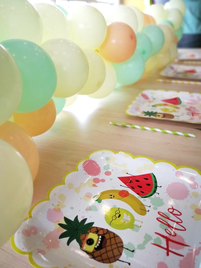 Fruit Themed Table Settings from a Tutti Frutti Birthday Party on Kara's Party Ideas | KarasPartyIdeas.com (9)