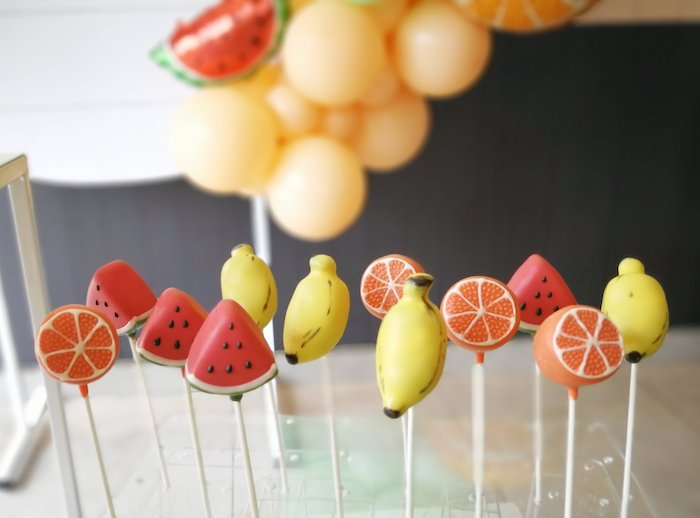 Fruit Cake Pops from a Tutti Frutti Birthday Party on Kara's Party Ideas | KarasPartyIdeas.com (8)