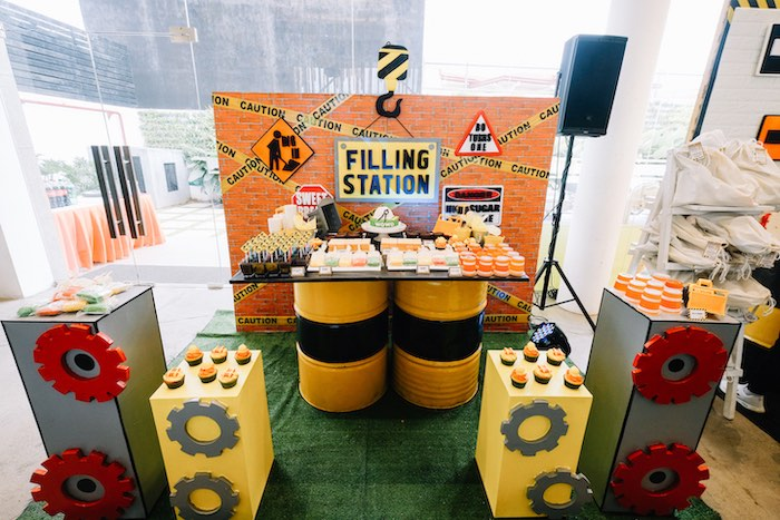 Filling Station - Construction Themed Dessert Table from an Under Construction Birthday Party on Kara's Party Ideas | KarasPartyIdeas.com (16)