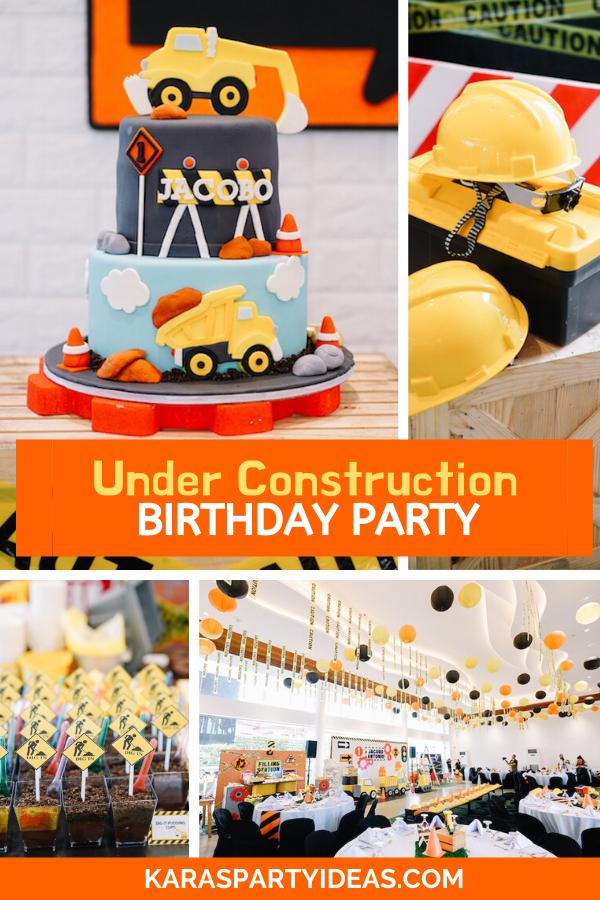 Under Construction Birthday Party via Kara's Party Ideas - KarasPartyIdeas.com