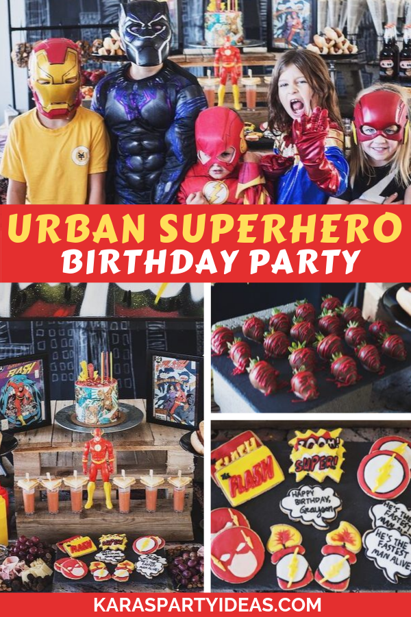 Urban Superhero Birthday Party via Kara's Party Ideas - KarasPartyIdeas.com