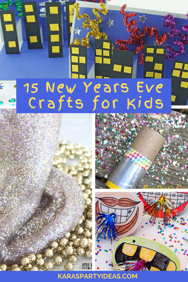 15 New Years Eve Crafts for Kids via Kara's Party Ideas - KarasPartyIdeas.com