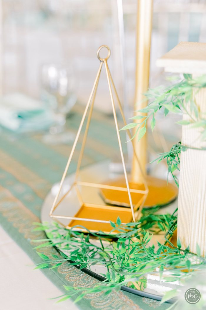 Gold Wire Table Centerpiece from an Ancient Greece Inspired Birthday Party on Kara's Party Ideas | KarasPartyIdeas.com (14)