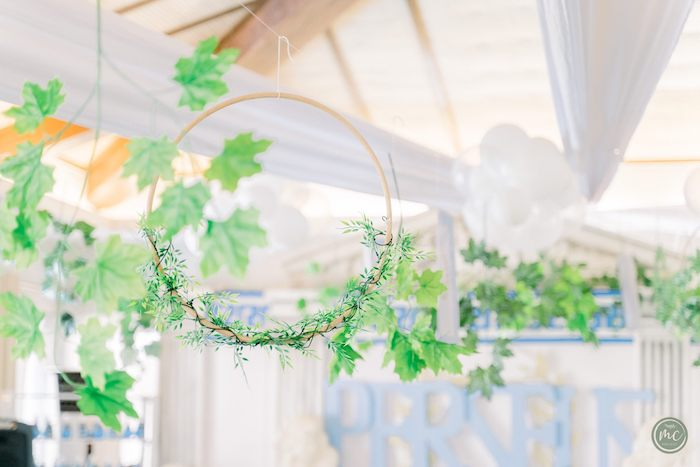 Ivy Hoop Decoration from an Ancient Greece Inspired Birthday Party on Kara's Party Ideas | KarasPartyIdeas.com (13)