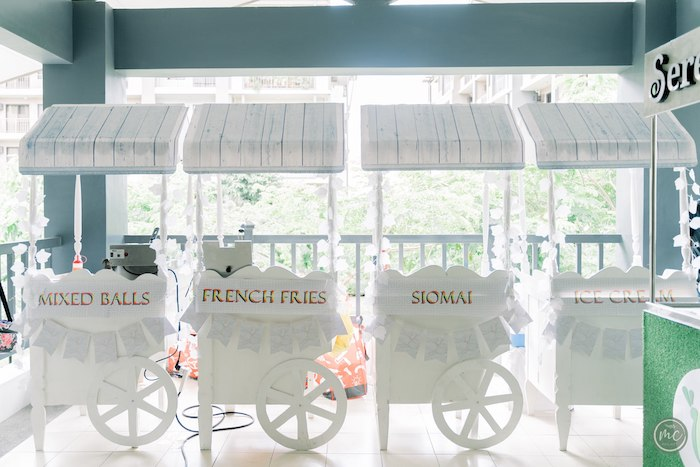 White Food Carts from an Ancient Greece Inspired Birthday Party on Kara's Party Ideas | KarasPartyIdeas.com (6)