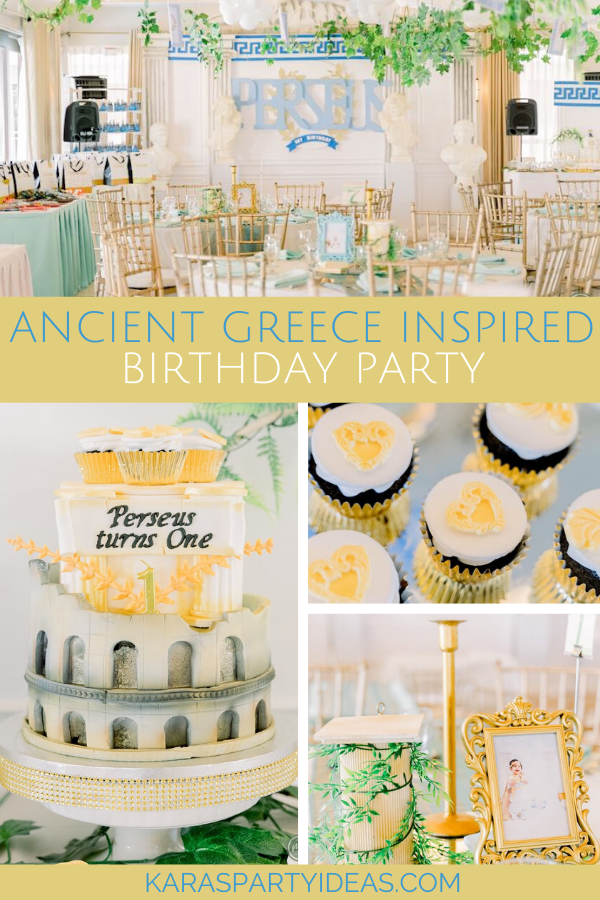 Ancient Greece Inspired Birthday Party via Kara's Party Ideas - KarasPartyIdeas.com