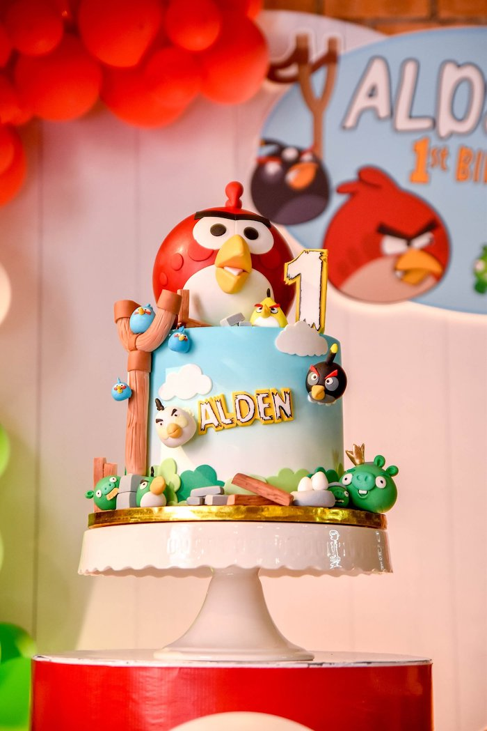 Angry Birds Cake from an Angry Birds Birthday Party on Kara's Party Ideas | KarasPartyIdeas.com (10)