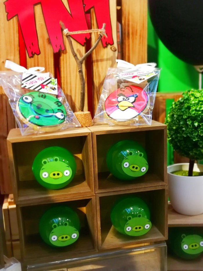 Angry Birds Cookies + Containers from an Angry Birds Birthday Party on Kara's Party Ideas | KarasPartyIdeas.com (9)