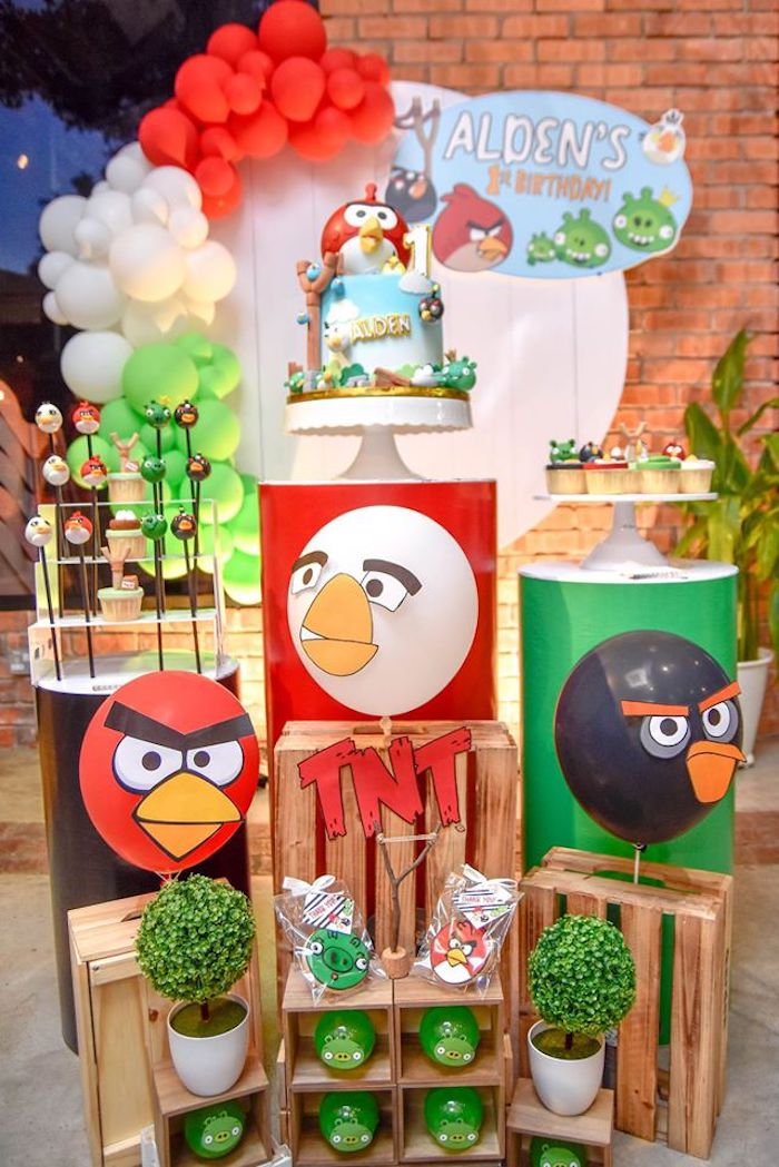 Angry Birds Dessert Spread from an Angry Birds Birthday Party on Kara's Party Ideas | KarasPartyIdeas.com (8)