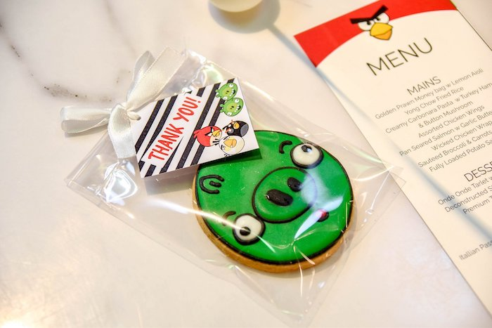 Angry Bird Cookie Favor from an Angry Birds Birthday Party on Kara's Party Ideas | KarasPartyIdeas.com (6)