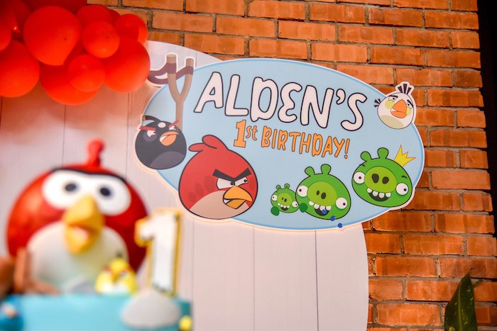 Angry Birds Party Signage from an Angry Birds Birthday Party on Kara's Party Ideas | KarasPartyIdeas.com (17)