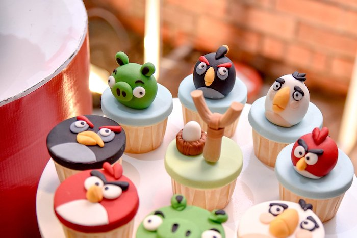 Angry Birds Cupcakes from an Angry Birds Birthday Party on Kara's Party Ideas | KarasPartyIdeas.com (16)