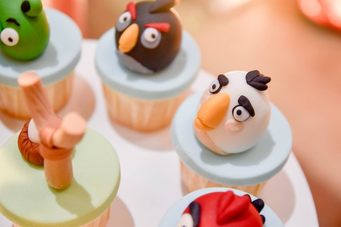 Angry Birds Cupcakes from an Angry Birds Birthday Party on Kara's Party Ideas | KarasPartyIdeas.com (13)