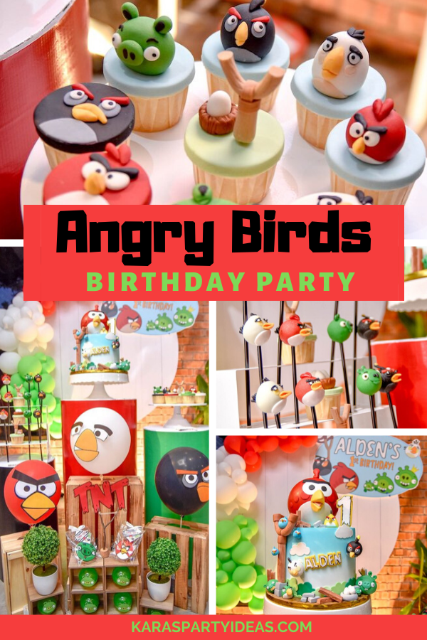 Angry Birds Birthday Party via Kara's Party Ideas - KarasPartyIdeas.com