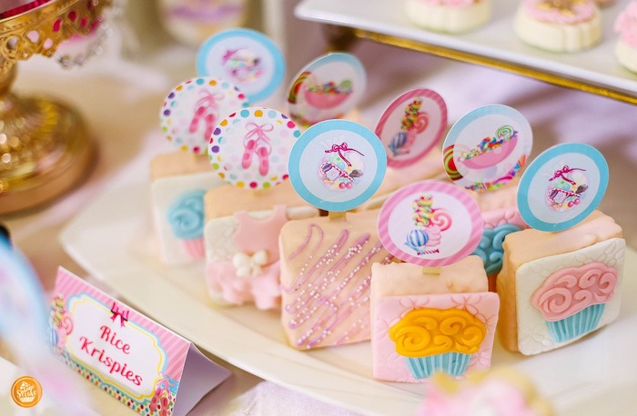 Rice Krispie Treats from a Ballerinas in Candy Land Birthday Party on Kara's Party Ideas | KarasPartyIdeas.com (13)