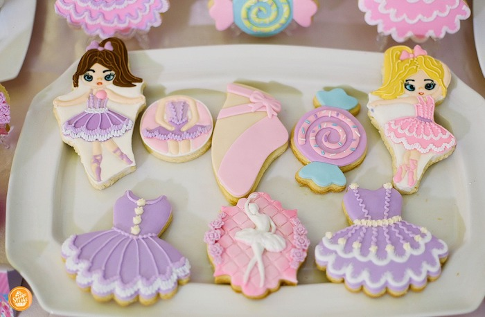 Candy and Ballet Themed Sugar Cookies from a Ballerinas in Candy Land Birthday Party on Kara's Party Ideas | KarasPartyIdeas.com (29)