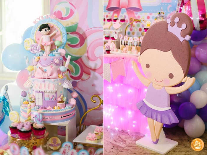 Ballerina Standee + Cake from a Ballerinas in Candy Land Birthday Party on Kara's Party Ideas | KarasPartyIdeas.com (10)