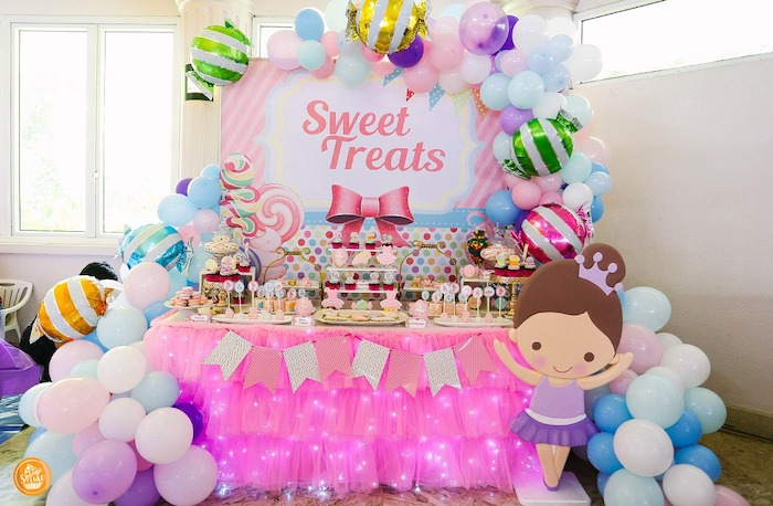 Candy Themed Dessert Table from a Ballerinas in Candy Land Birthday Party on Kara's Party Ideas | KarasPartyIdeas.com (6)