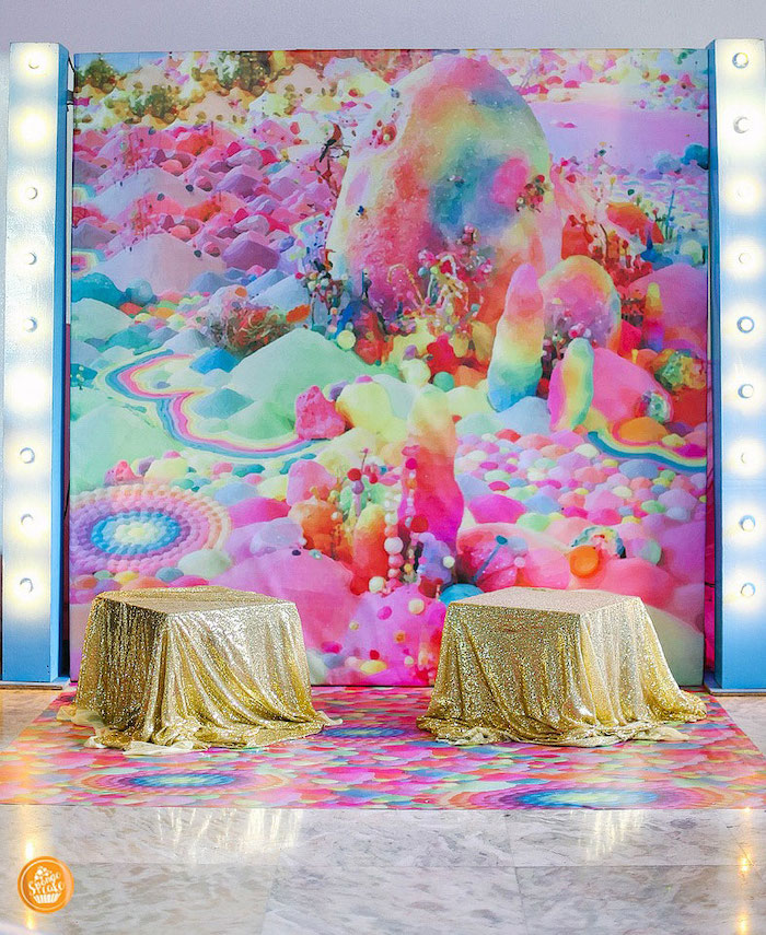 Candy Land Photo Booth from a Ballerinas in Candy Land Birthday Party on Kara's Party Ideas | KarasPartyIdeas.com (26)