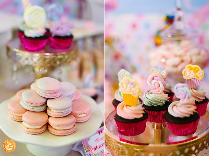 Macarons and Cupcakes from a Ballerinas in Candy Land Birthday Party on Kara's Party Ideas | KarasPartyIdeas.com (22)
