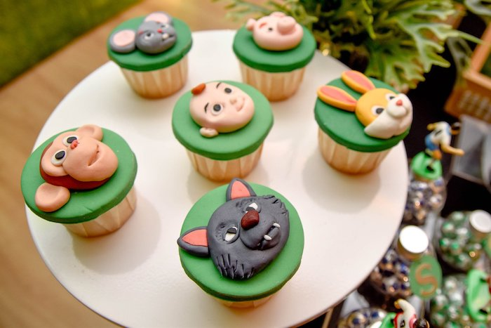 Cocomelon Character Cupcakes from a Cocomelon & Soccer Birthday Party on Kara's Party Ideas | KarasPartyIdeas.com (8)