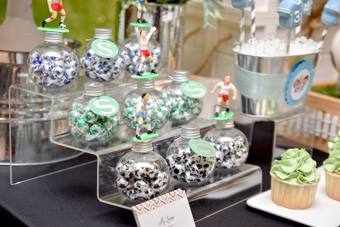 Soccer Ball Candy-filled Favors from a Cocomelon & Soccer Birthday Party on Kara's Party Ideas | KarasPartyIdeas.com (18)