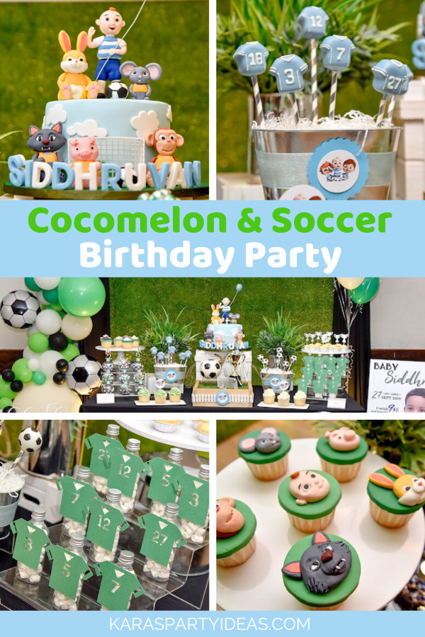 Cocomelon & Soccer Birthday Party via Kara's Party Ideas - KarasPartyIdeas.com