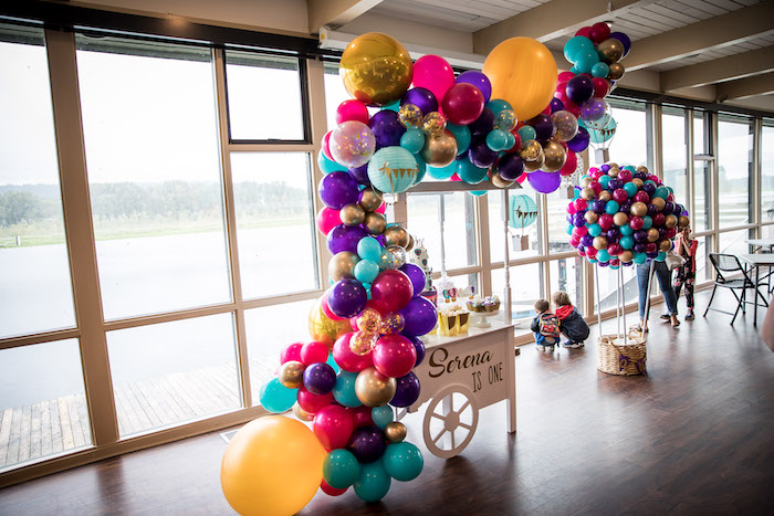 Colorful Hot Air Balloon Birthday Party on Kara's Party Ideas | KarasPartyIdeas.com (12)