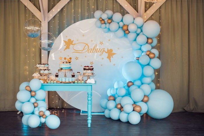 Wish Upon a Star Themed Dessert Table from a Dreamy Wish Upon a Star Christening Party on Kara's Party Ideas | KarasPartyIdeas.com (8)
